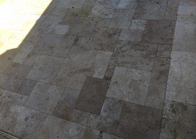 Mosaic paving style