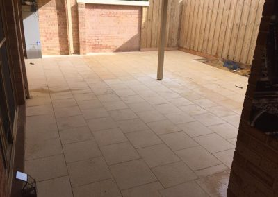 Outdoor Area Paved by Southcity Landscaping