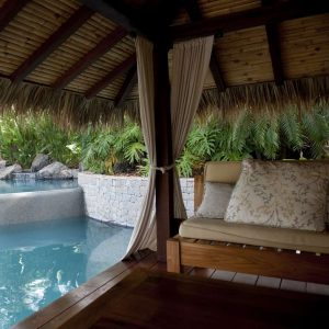 Cabana by poolside